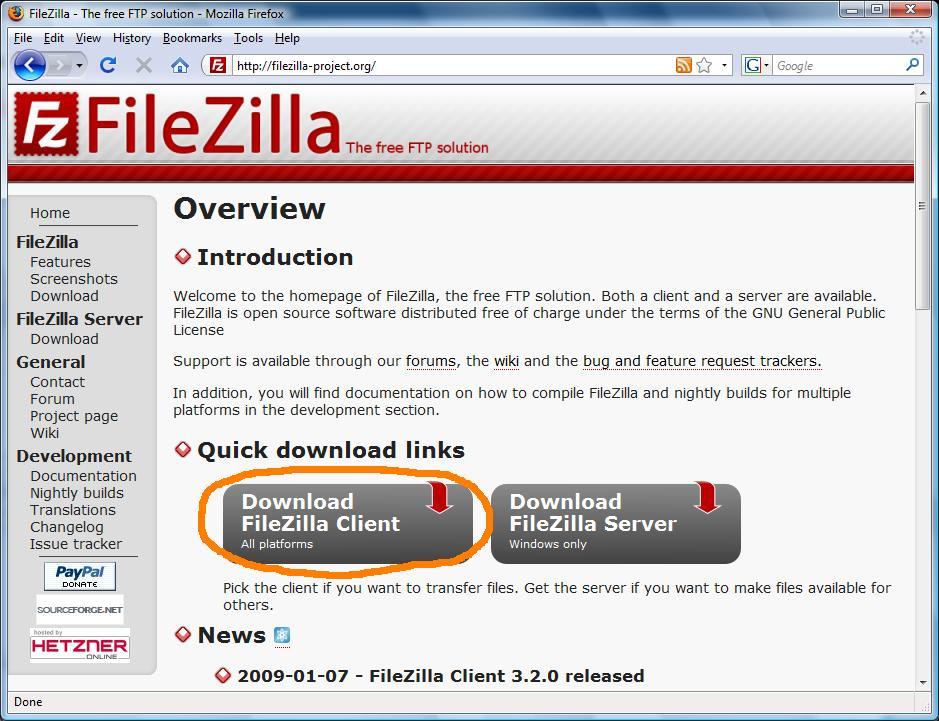 WatFile.com Download Free Using FileZilla for SFTP